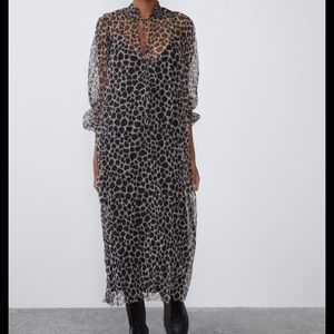 Zara Giraffe Printed Tulle Dress